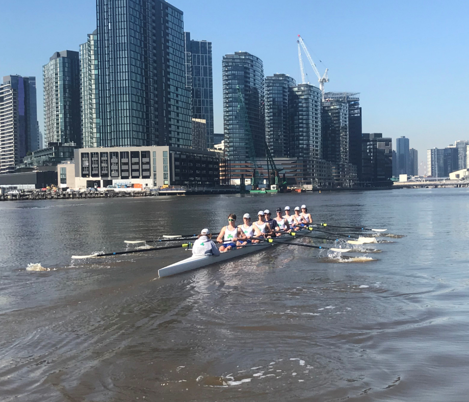 West Vic Academy of Sport Rowing Athletes Training in Melbourne