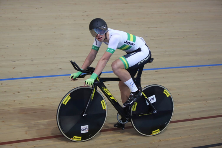 Graeme Frislie: Post-race after claiming the gold medal for Australia in the Team Pursuit